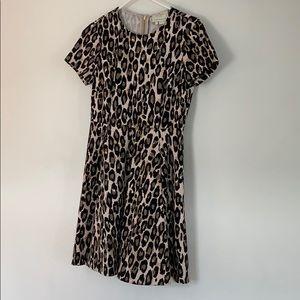 Kate Spade Leopard Fit & Flare Dress